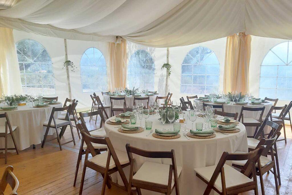 Casament rústic a Els Olivers a Horta de Sant Joan Parc Natural Els Ports decoració MASBA Terra Alta carpa natural